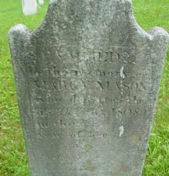 MASON, MARCY - Berkshire County, Massachusetts | MARCY MASON - Massachusetts Gravestone Photos