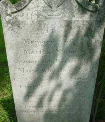 MASON, MARTHA - Berkshire County, Massachusetts | MARTHA MASON - Massachusetts Gravestone Photos