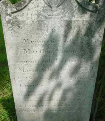 MASON, MARTHA - Berkshire County, Massachusetts | MARTHA MASON - Massachusetts Gravestone Photos