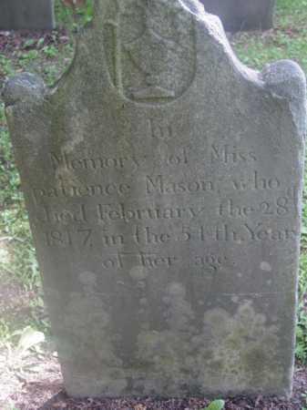 MASON, PATIENCE - Berkshire County, Massachusetts | PATIENCE MASON - Massachusetts Gravestone Photos