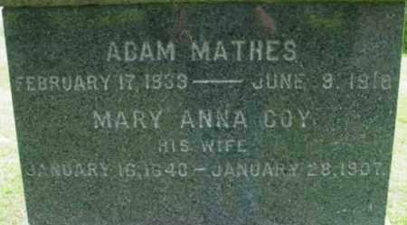 MATHES, MARY ANNA - Berkshire County, Massachusetts   MARY ANNA MATHES - Massachusetts Gravestone Photos