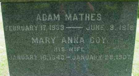 COY MATHES, MARY ANNA - Berkshire County, Massachusetts | MARY ANNA COY MATHES - Massachusetts Gravestone Photos