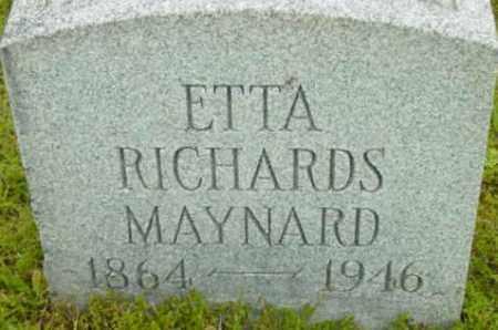MAYNARD, ETTA - Berkshire County, Massachusetts | ETTA MAYNARD - Massachusetts Gravestone Photos