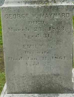 MAYNARD, GEORGE W - Berkshire County, Massachusetts   GEORGE W MAYNARD - Massachusetts Gravestone Photos