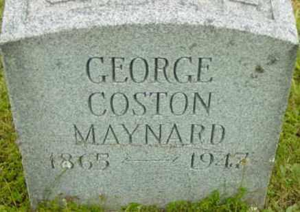 MAYNARD, GEORGE COSTON - Berkshire County, Massachusetts | GEORGE COSTON MAYNARD - Massachusetts Gravestone Photos