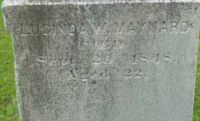 MAYNARD, LUCINDA W - Berkshire County, Massachusetts | LUCINDA W MAYNARD - Massachusetts Gravestone Photos