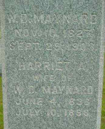 MAYNARD, HARRIET A - Berkshire County, Massachusetts | HARRIET A MAYNARD - Massachusetts Gravestone Photos