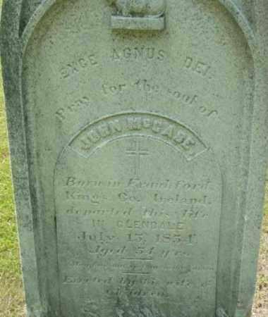 MCCABE, JOHN - Berkshire County, Massachusetts   JOHN MCCABE - Massachusetts Gravestone Photos