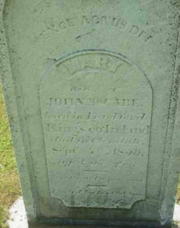 MCCABE, MARY - Berkshire County, Massachusetts   MARY MCCABE - Massachusetts Gravestone Photos