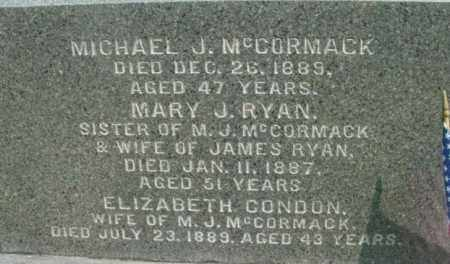 MCCORMACK, MICHAEL J - Berkshire County, Massachusetts | MICHAEL J MCCORMACK - Massachusetts Gravestone Photos