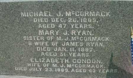 MCCORMACK RYAN, MARY J - Berkshire County, Massachusetts | MARY J MCCORMACK RYAN - Massachusetts Gravestone Photos