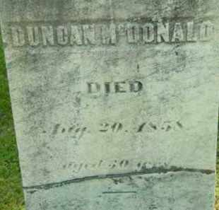 MCDONALD, DUNCAN - Berkshire County, Massachusetts | DUNCAN MCDONALD - Massachusetts Gravestone Photos