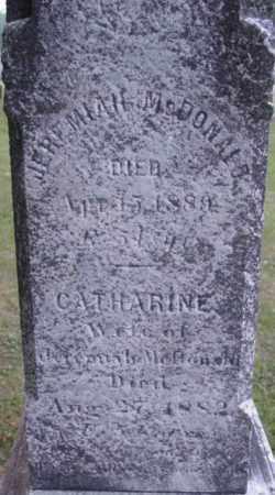 MCDONALD, CATHARINE - Berkshire County, Massachusetts | CATHARINE MCDONALD - Massachusetts Gravestone Photos