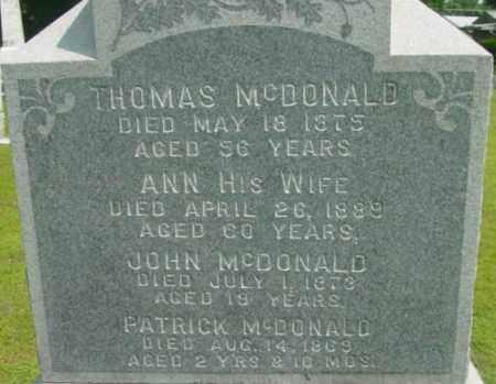 MCDONALD, THOMAS - Berkshire County, Massachusetts | THOMAS MCDONALD - Massachusetts Gravestone Photos