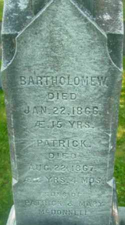 MCDONNELL, PATRICK - Berkshire County, Massachusetts | PATRICK MCDONNELL - Massachusetts Gravestone Photos