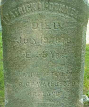 MCDONNELL, PATRICK - Berkshire County, Massachusetts   PATRICK MCDONNELL - Massachusetts Gravestone Photos
