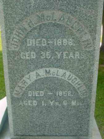 MCLAUGHLIN, MARY A - Berkshire County, Massachusetts | MARY A MCLAUGHLIN - Massachusetts Gravestone Photos