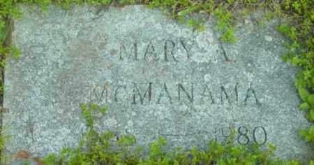MCMANAMA, MARY A - Berkshire County, Massachusetts | MARY A MCMANAMA - Massachusetts Gravestone Photos
