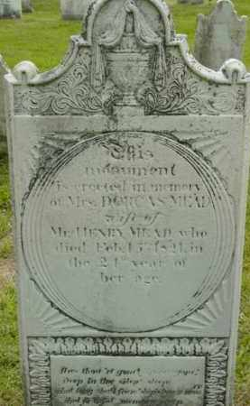 MEAD, DORCAS - Berkshire County, Massachusetts   DORCAS MEAD - Massachusetts Gravestone Photos