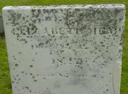 MEAD, ELIZABETH - Berkshire County, Massachusetts   ELIZABETH MEAD - Massachusetts Gravestone Photos