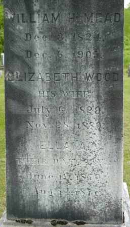 MEAD, WILLIAM H - Berkshire County, Massachusetts | WILLIAM H MEAD - Massachusetts Gravestone Photos