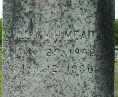 MEAD, WILLIAM H, JR - Berkshire County, Massachusetts | WILLIAM H, JR MEAD - Massachusetts Gravestone Photos