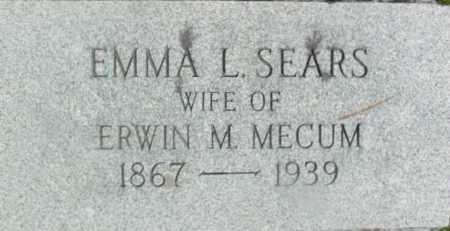SEARS, EMMA L - Berkshire County, Massachusetts | EMMA L SEARS - Massachusetts Gravestone Photos