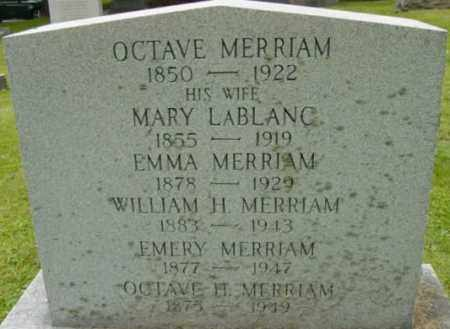 MERRIAM, OCTAVE - Berkshire County, Massachusetts | OCTAVE MERRIAM - Massachusetts Gravestone Photos
