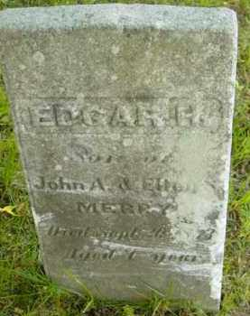 MERRY, EDGAR H - Berkshire County, Massachusetts | EDGAR H MERRY - Massachusetts Gravestone Photos