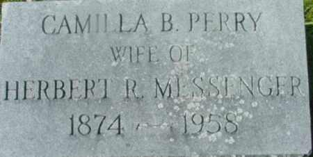 PERRY, CAMILLA B - Berkshire County, Massachusetts | CAMILLA B PERRY - Massachusetts Gravestone Photos