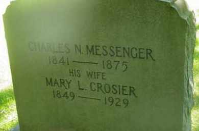MESSENGER, MARY L - Berkshire County, Massachusetts | MARY L MESSENGER - Massachusetts Gravestone Photos