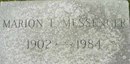MESSENGER, MARION L - Berkshire County, Massachusetts | MARION L MESSENGER - Massachusetts Gravestone Photos