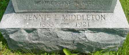 MIDDLETON, JENNIE L - Berkshire County, Massachusetts   JENNIE L MIDDLETON - Massachusetts Gravestone Photos