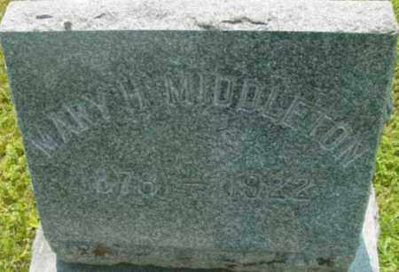 MIDDLETON, MARY H - Berkshire County, Massachusetts | MARY H MIDDLETON - Massachusetts Gravestone Photos