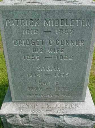 O'CONNOR MIDDLETON, BRIDGET - Berkshire County, Massachusetts | BRIDGET O'CONNOR MIDDLETON - Massachusetts Gravestone Photos
