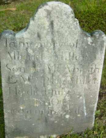 MILLER, ALBARAL - Berkshire County, Massachusetts | ALBARAL MILLER - Massachusetts Gravestone Photos