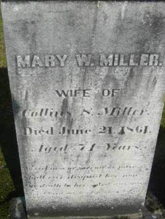 MILLER, MARY W - Berkshire County, Massachusetts   MARY W MILLER - Massachusetts Gravestone Photos