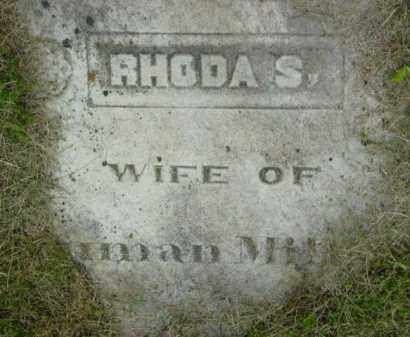 MILLER, RHODA S - Berkshire County, Massachusetts   RHODA S MILLER - Massachusetts Gravestone Photos