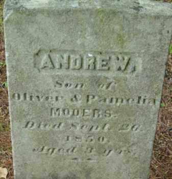 MOOERS, ANDREW - Berkshire County, Massachusetts | ANDREW MOOERS - Massachusetts Gravestone Photos