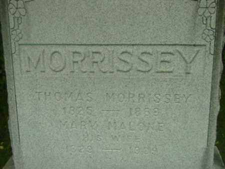 MORRISSEY, MARY - Berkshire County, Massachusetts | MARY MORRISSEY - Massachusetts Gravestone Photos
