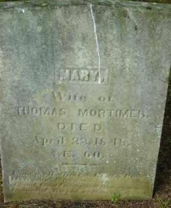 MORTIMER, MARY - Berkshire County, Massachusetts | MARY MORTIMER - Massachusetts Gravestone Photos