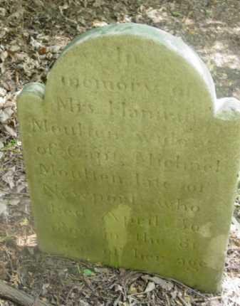MOULTEN, HANNAH - Berkshire County, Massachusetts | HANNAH MOULTEN - Massachusetts Gravestone Photos