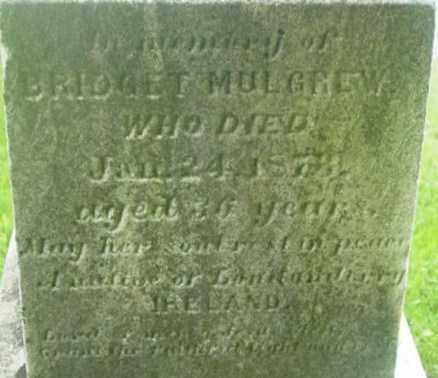 MULGREW, BRIDGET - Berkshire County, Massachusetts | BRIDGET MULGREW - Massachusetts Gravestone Photos
