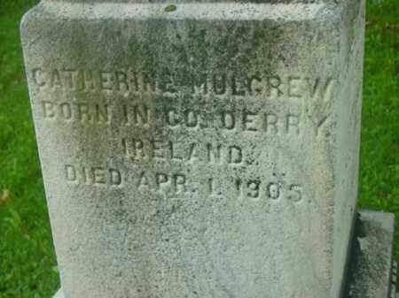 MULGREW, CATHERINE - Berkshire County, Massachusetts   CATHERINE MULGREW - Massachusetts Gravestone Photos