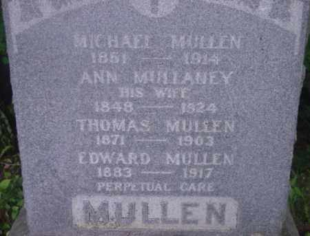 MULLEN, ANN - Berkshire County, Massachusetts | ANN MULLEN - Massachusetts Gravestone Photos