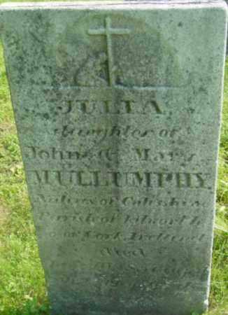 MULLUMPHY, JULIA - Berkshire County, Massachusetts | JULIA MULLUMPHY - Massachusetts Gravestone Photos