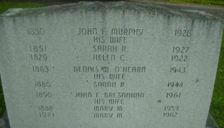 MURPHY, JOHN F - Berkshire County, Massachusetts | JOHN F MURPHY - Massachusetts Gravestone Photos