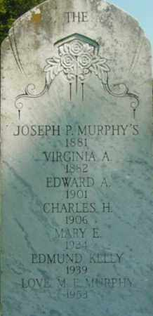MURPHY, JOSEPH P - Berkshire County, Massachusetts | JOSEPH P MURPHY - Massachusetts Gravestone Photos