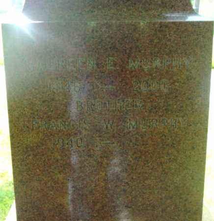 MURPHY, FRANCIS W - Berkshire County, Massachusetts | FRANCIS W MURPHY - Massachusetts Gravestone Photos