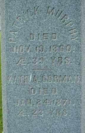 GORMAN MURPHY, KATE A - Berkshire County, Massachusetts   KATE A GORMAN MURPHY - Massachusetts Gravestone Photos